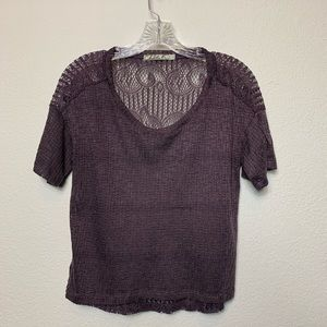 Chloe K purple lace top.